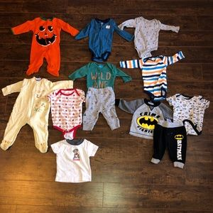 Baby Boy Size 3-6 Months Bundle Lot
